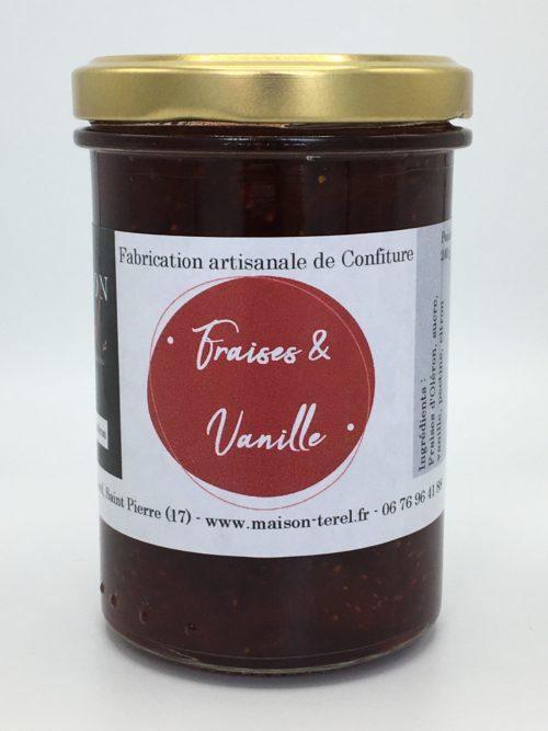 Confiture fraise et vanille Maison Térél